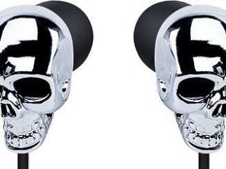 Skull Earbuds in Silver