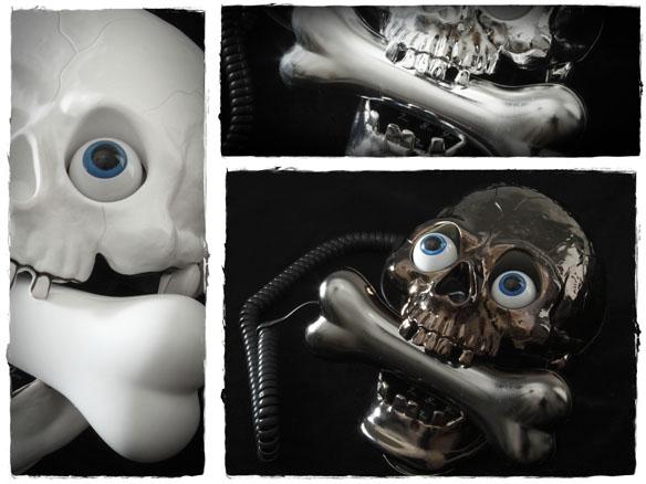 Skull Phone with Bone Headset