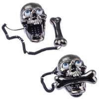 Skull Skeleton Corded Telephone