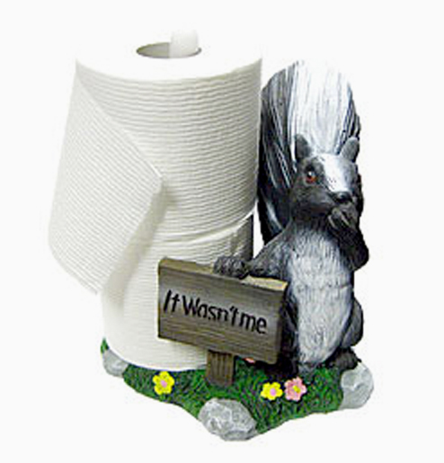 Skunk Toilet Tissue Holder