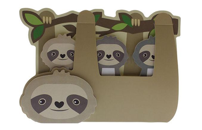 sloth sticky memo set
