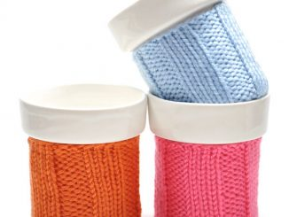 Small Knit Color Cozy Mug