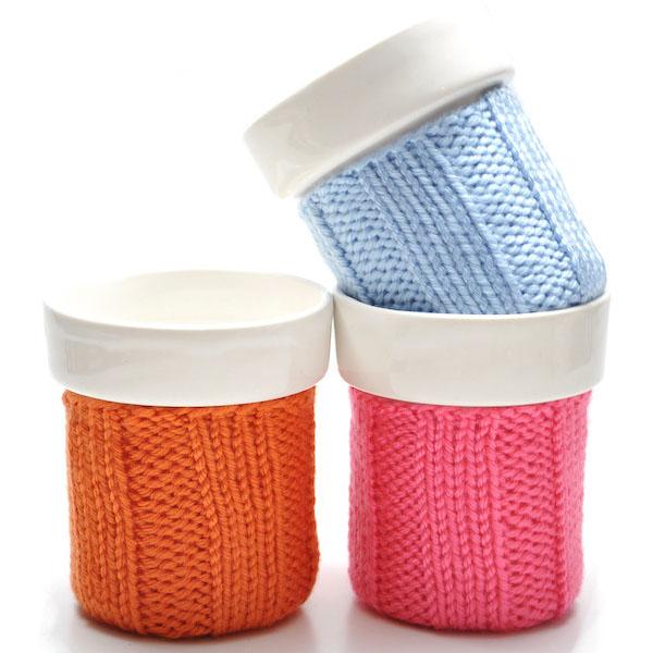 Small Knit Color Cozy Mug