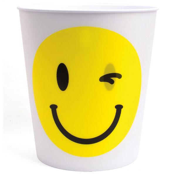 Smile and Wink Lenticular Waste Basket