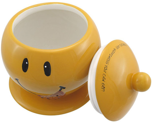 Smiley Face Ceramic Cookie Jar.jpg