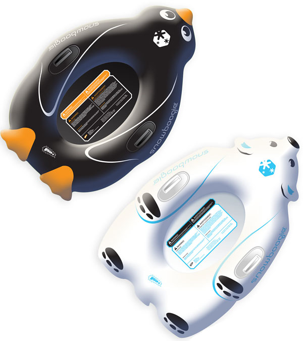 Snow Boogie Penguin & Polar Bear Inflatable Sledges
