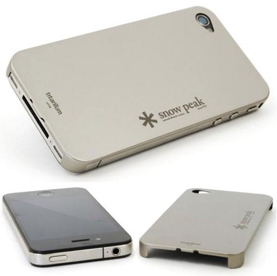 Snow Peak Titanium iPhone 4 Case