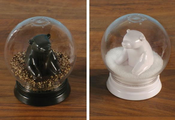 Snowglobe Bear Salt & Pepper Shakers