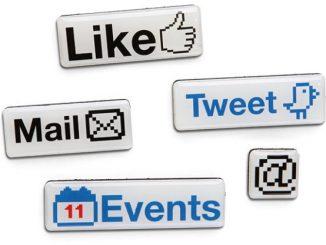 Social Media Fridge Magnets