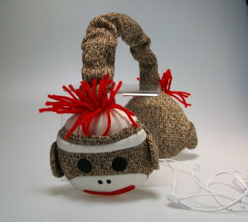 Sock Monkey Headphones
