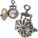 Solar Powered Turbine Steampunk Fob Watch