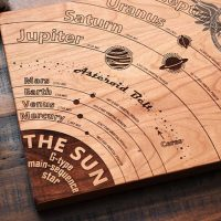 Solar System Cutting Board - med