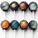 Solar System Hard Candy Lollipops