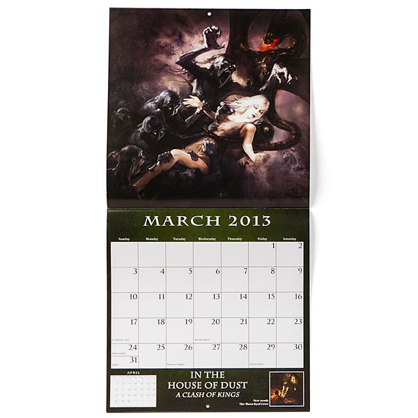 Song of Ice and Fire Calendar