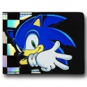 Sonic Checkered on Black Bi Fold Wallet
