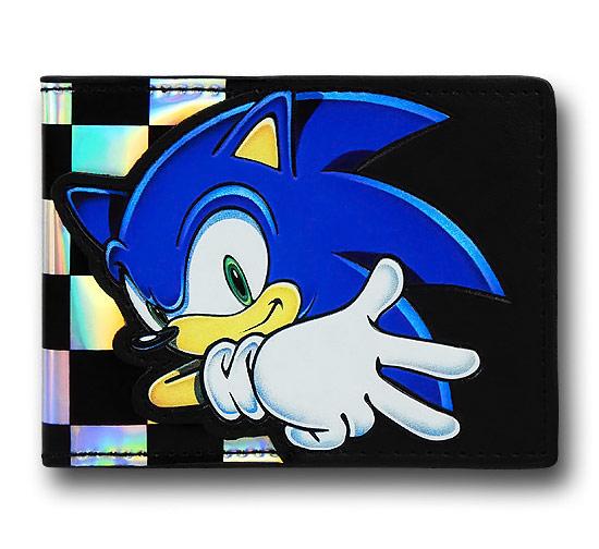 Sonic Checkered on Black Bi Fold Wallet