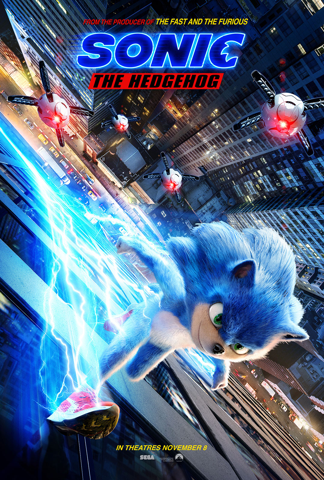 sonic hedgehog movie poster official trailer