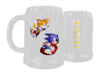 Sonic the Hedgehog 8-Bit Ceramic 25 oz. Beer Mug
