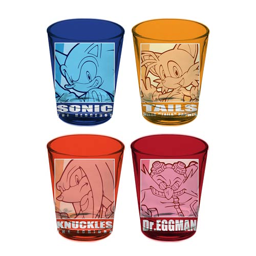 Sonic the Hedgehog Characters Shot Glass 4-Pack