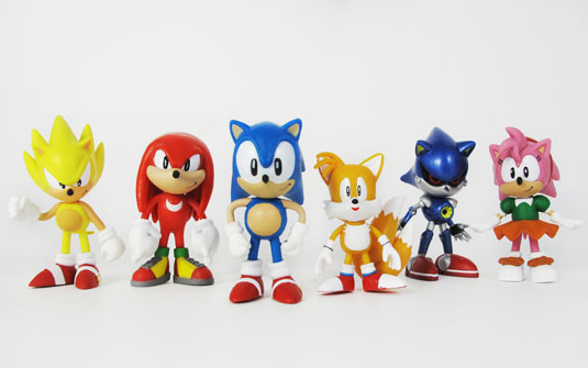 Sonic The Hedgehog Classic 2 Inch Minifigure 6 Pack