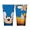 Sonic the Hedgehog Face and Running Pint Glass 2-Pack