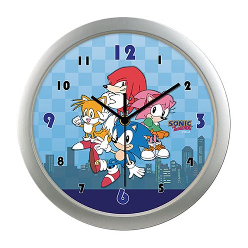 Sonic the Hedgehog Group with City Wall Clock