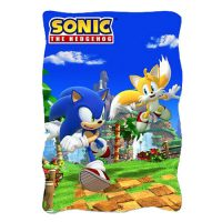 Sonic the Hedgehog Sonic and Tails Fleece Throw Blanket