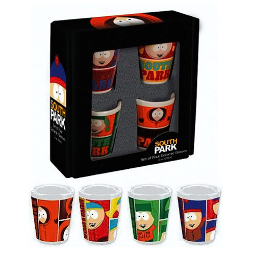 South Park Ceramic Shot Glasses