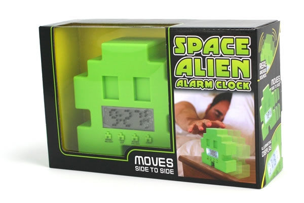 Space Invader Alien Alarm Clock