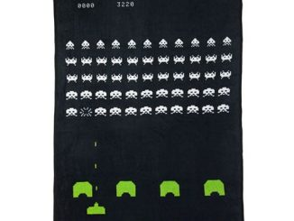 Space Invader Plush Throw Blanket