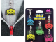 Space Invader Zipper Pull 5-Pack