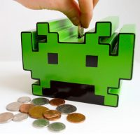 Space Invaders Electronic Bank with Sound