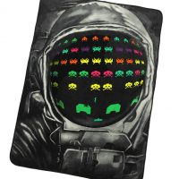 Space Invaders Fleece Blanket