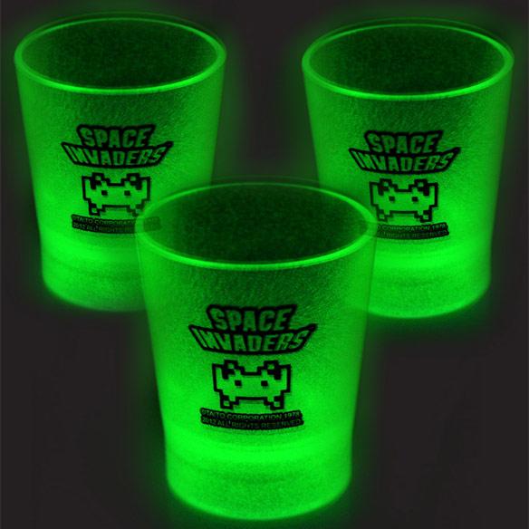 Space Invaders Glow in the Dark Shot Glasses