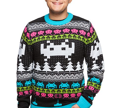 Space Invaders Holiday Sweater