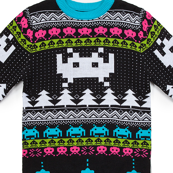 866f4c21cc24be Space Invaders Holiday Sweater