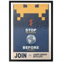 Space Invaders Propaganda Print