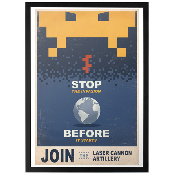 Space Invaders Propaganda Print