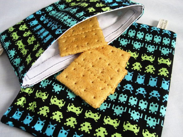 Space Invaders Reusable Sandwich Bag
