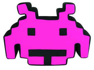 Space Invaders Talking Purple Plush