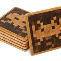 Space Invaders Wood Coasters
