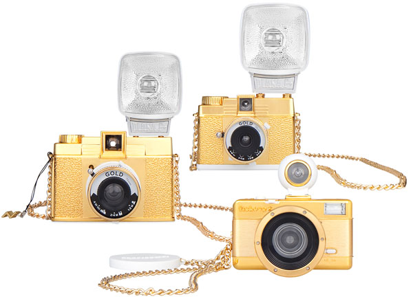 Special Edition Golden Lomography Cameras