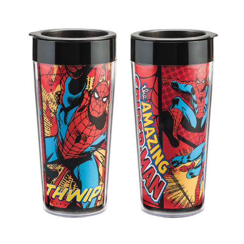 Spider-Man 16 oz. Plastic Travel Mug
