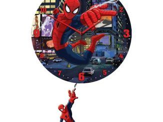 Spider-Man 3-D Pendulum Wall Clock