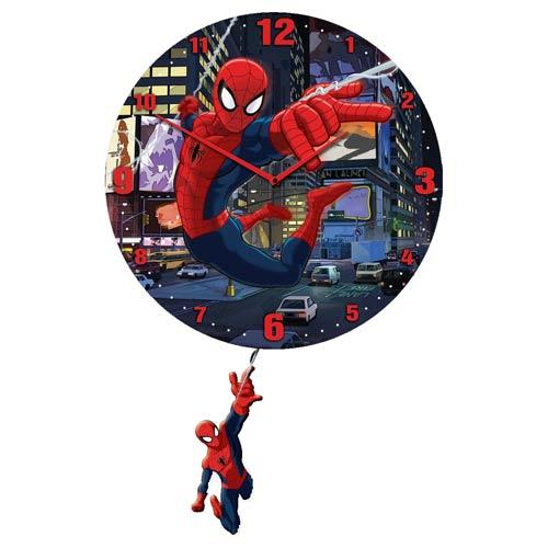 Spider-Man 3-D Pendulum Wall Clock