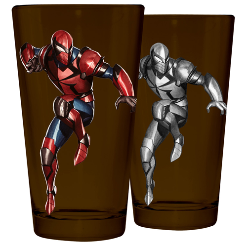 Spider-Man Armor Heat Change Pint Glass