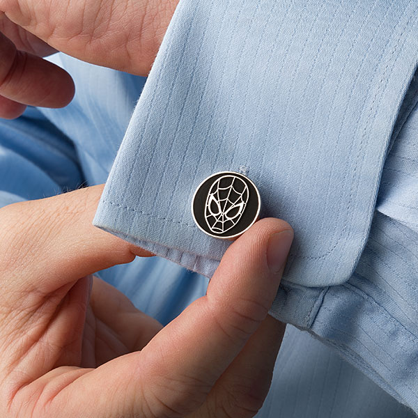 Spider-Man Black Matte Cufflinks