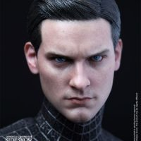 Spider-Man Black Suit Version Sixth-Scale Figure with Tobey Maguire Head