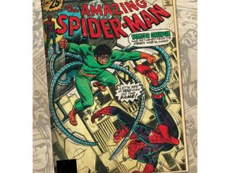 Spider-Man Doctor Octopus Marvel Comic Book Cover Stretched Canvas Print