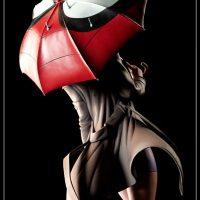 Spider Man Gwen Stacy Polystone Statue with Umbrella